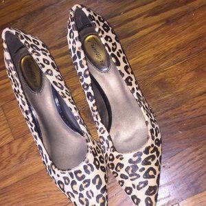 Cheetah print kitten heels